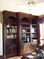 cherry ofice cabinetry